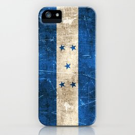 Vintage Aged and Scratched Honduras Flag iPhone Case