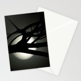 Tree and Moon Silhouette Stationery Cards