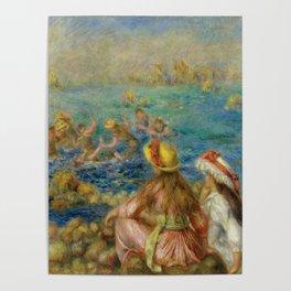 "Auguste Renoir ""Baigneuses"" Poster"