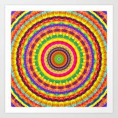 Batik Bullseye Art Print