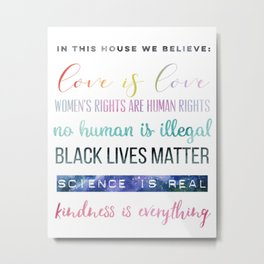 In This House We Believe... Resistance Art, Political Art Metal Print