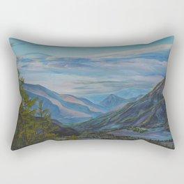 Evening in the mountains Rectangular Pillow