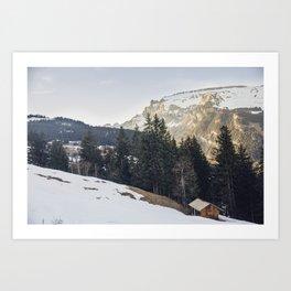 Hut on the Hill Art Print