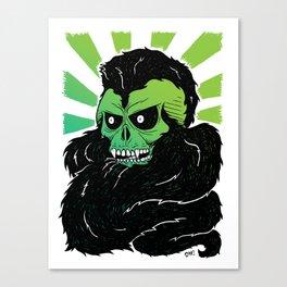 Bearded Skull Canvas Print
