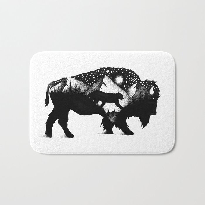 THE BISON AND THE COUGAR Bath Mat