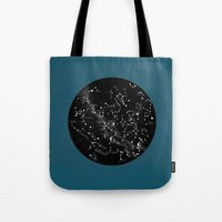 constellations Tote Bags featuring Constellations  by Terry Fan