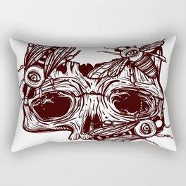 skull and wasps. horseman of the Apocalypse Rectangular Pillow