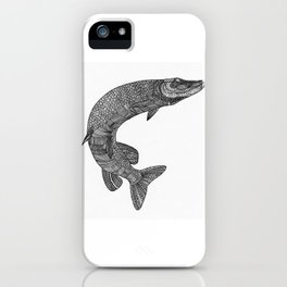 Northern pike - Esox lucius iPhone Case