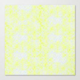 Damask Yellow Canvas Print
