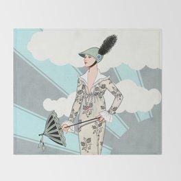 Art Deco 6 Throw Blanket