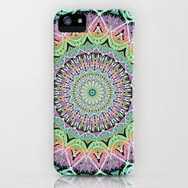 Black Pastel Mandala 012018 iPhone Case
