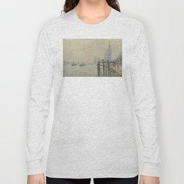 Claude Monet - The Thames Below Westminster Long Sleeve T-shirt