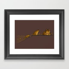 Evolution of Hypnotoad Framed Art Print