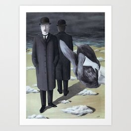 Rene Magritte (The meaning of night) Art Print