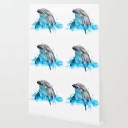 Dolphin Watercolor, Dolphin Painting, Dolphin Gift, Dolphin Poster, Dolphin Print, Dolphin Aquarelle Wallpaper