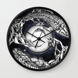 Cosmic Koi Wall Clock