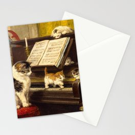Henriëtte Ronner-Knip - The Piano Lesson (De pianoles) Stationery Cards