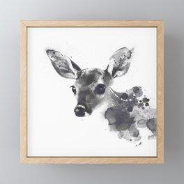 Watercolor Deer Framed Mini Art Print