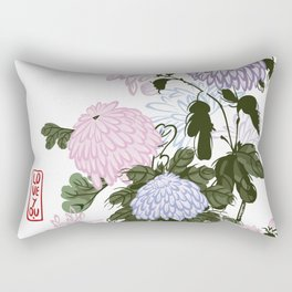 Cute chrysanthemus I love you Rectangular Pillow