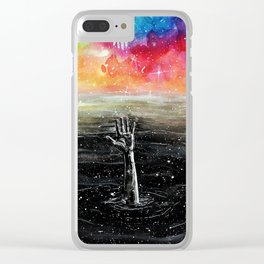 Help me Clear iPhone Case