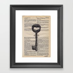Key Vintage #3 Framed Art Print