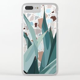 Leaves+Terrazzo° Clear iPhone Case