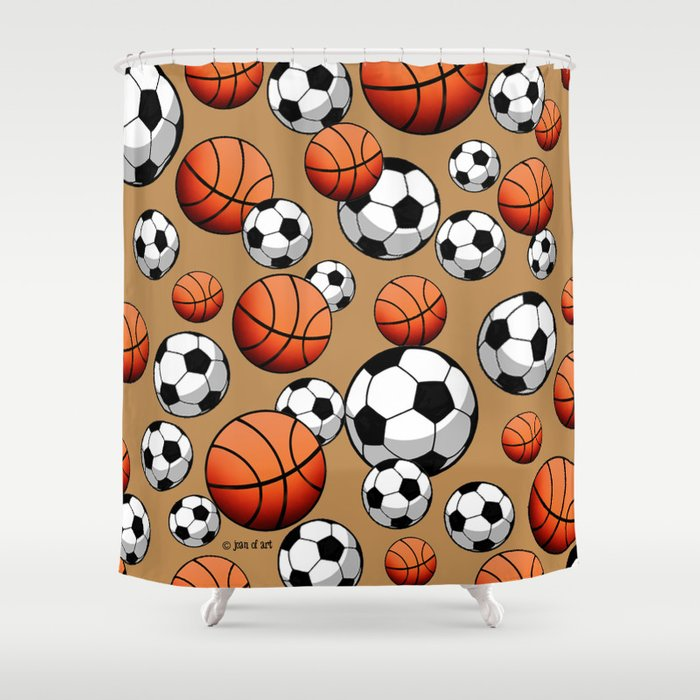Soccer Basketball Shower Curtain