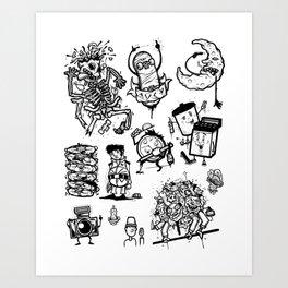Random Drawings Art Print