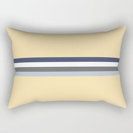 Minimal Abstract Grey Stripes On Beige - Drow Rectangular Pillow