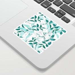 fresh green leaf pattern Sticker