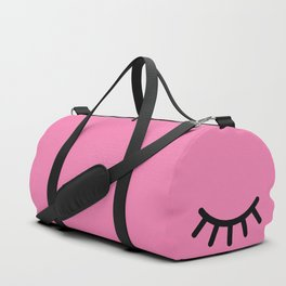Wink (on pink) Duffle Bag