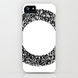 Kanji Calligraphy Art : circle iPhone Case
