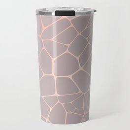 Abstract Decorative Texture -  Metallic Rose Gold Travel Mug