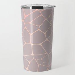 Abstract Decorative Texture -  Metallic Rose Gold Travel Mug
