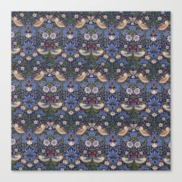 William Morris Strawberry Thief Pattern Canvas Print