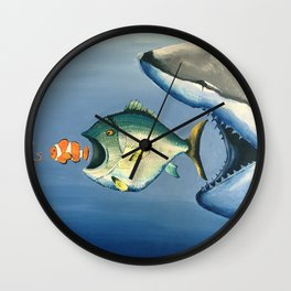 Fish Bait Wall Clock