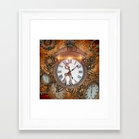 steampunk Framed Art Prints featuring Steampunk by nicky2342