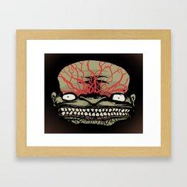 SCARY MONSTER BRAINIAC Framed Art Print