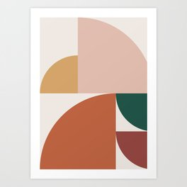 Abstract Geometric 10 Art Print
