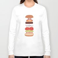 burger Long Sleeve T-shirts featuring Burger by Andrew Mashanov