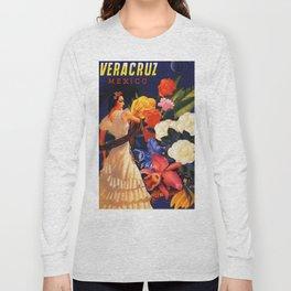 Veracruz Travel Poster Long Sleeve T-shirt