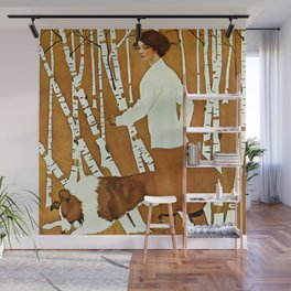 Coles Phillips 'Fadeaway Girl' A Walk in the Woods Wall Mural