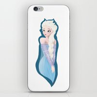 frozen elsa iPhone & iPod Skins featuring Frozen - Elsa by ccolors
