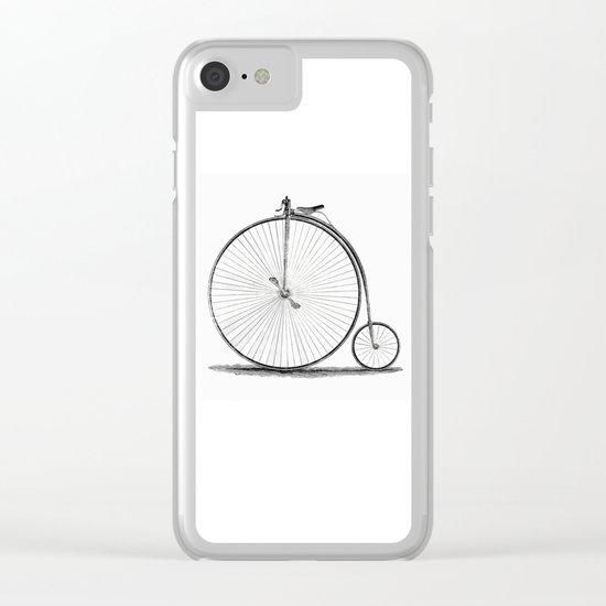Penny-farthing. Clear iPhone Case
