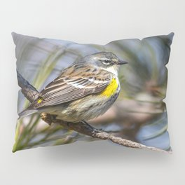 Yellow Rumped Warbler in May Pillow Sham