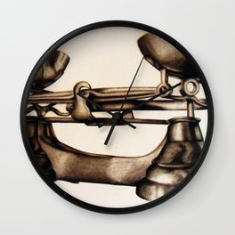 Measuring Scales Wall Clock