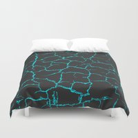 cracked Duvet Covers featuring Cracked by Last Call