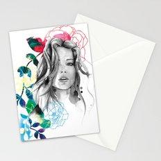Kristen fashion watercolor portrait Stationery Cards