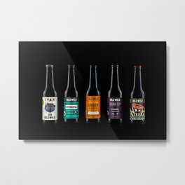 Beer bottles Metal Print