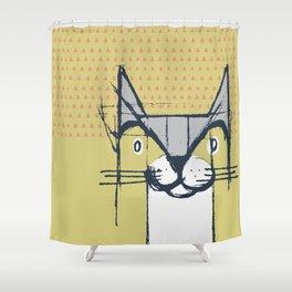 Cubist Cat Study #6 by Friztin Shower Curtain